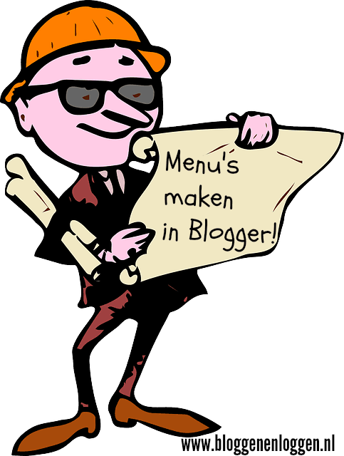 Menu's maken in Blogger: 2 methodes