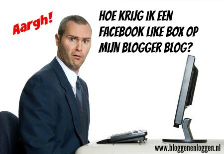Facebook like box op je Blogger blog