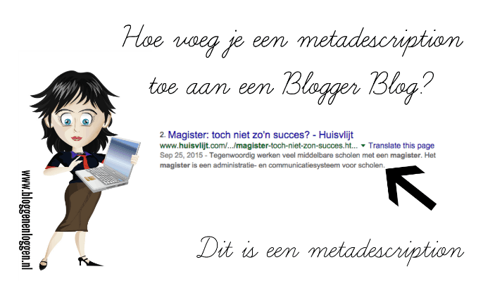 Hoe voeg je een metadescription toe aan een Blogger Blog?