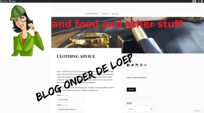 Blog onder de loep: Fashion and food and other stuff