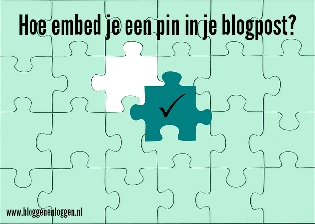 Hoe embed je een pin in je blogpost?