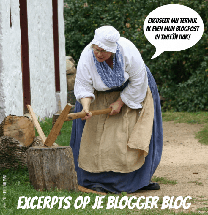 Readmore op je Blogger homepage