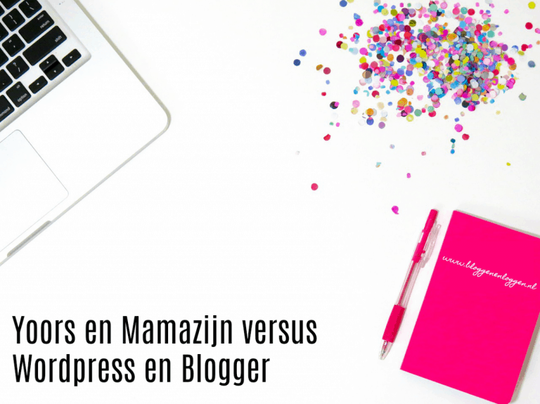 Yoors versus WordPress en Blogger blogs