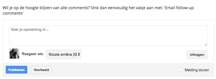 blogspot comments bericht