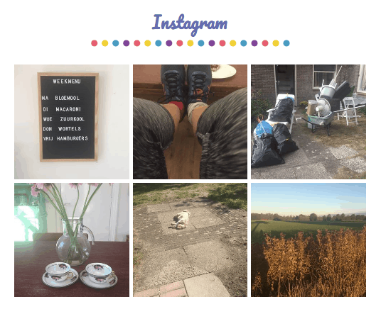 Instagram feed op je blogger blog