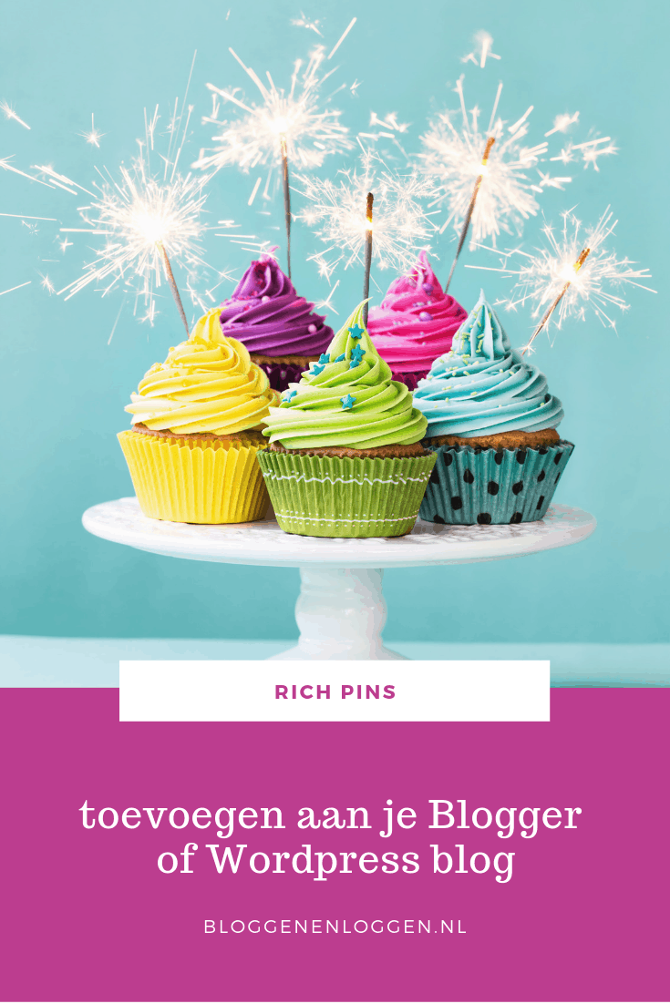 Rich pins op je Blogger of WordPress blog