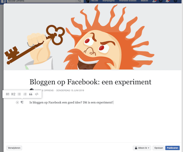 Bloggen op Facebook