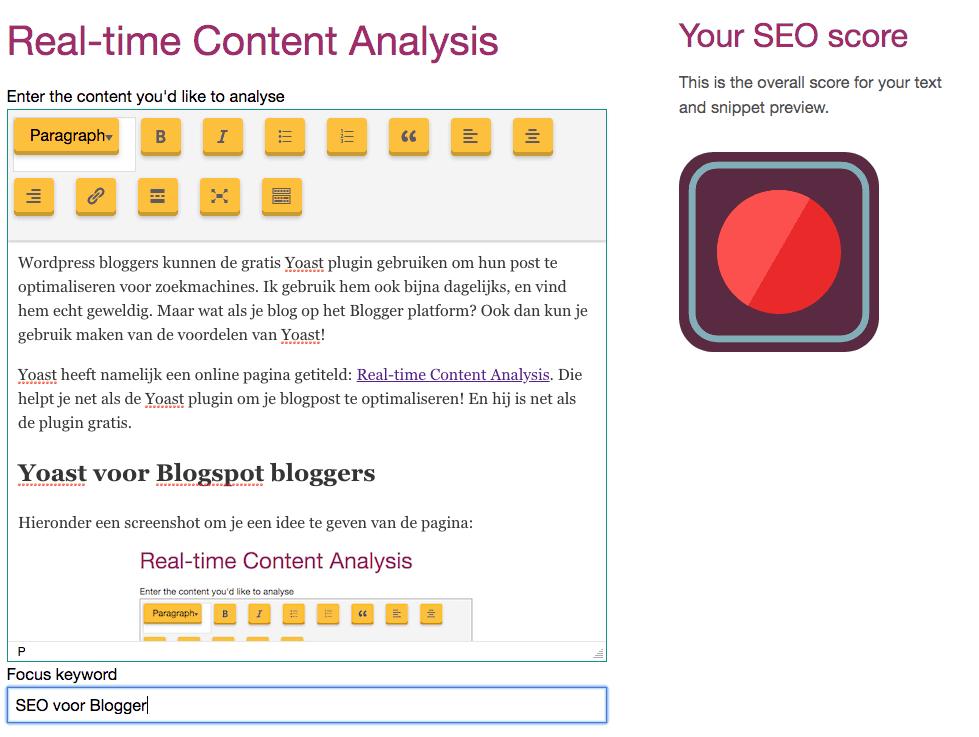 SEO voor blogger
