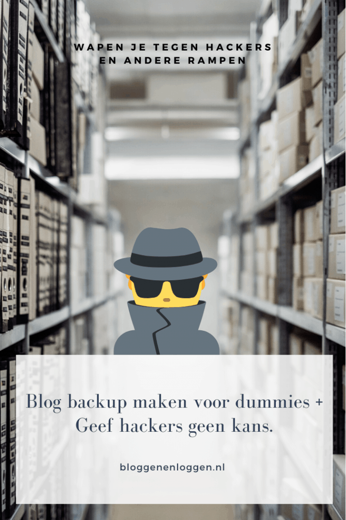 Blog back up maken